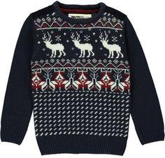 Boys Reindeer Knit Christmas Jumper on shopstyle.co.uk