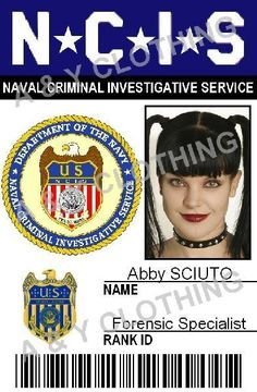 Navy NCIS  Naval Criminal Investigative Service (TV) (2003) movie props Abby Sciuto - NCIS ID Card