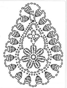 some very interesting crocheted Paisley patterns, all in chart form. Would make nice appliques on an afghan...