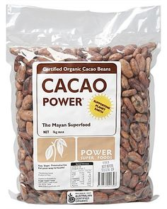 Power Super Foods Certified Organic Whole Raw Chocolate Beans - 100g