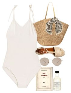 """""""Untitled #10439"""" by nikka-phillips ❤ liked on Polyvore featuring Fresh, Gucci, Flora Bella, Maryam Nassir Zadeh, Charlotte Olympia, Totême, harrystyles, beach, pool and kendalljenner"""