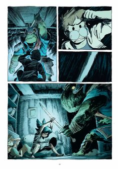 Roubaix, France: Ankama, 11 x color, pictorial boards.Malassagne studied animation at the Gobelins School in Paris. Storyboard, Comic Book Layout, Comic Books Art, Bd Comics, Manga Comics, Bd Cool, Graphic Novel Art, Comic Panels, Comic Styles