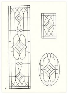 Free Fanlight and Transom Patterns For Stained Glass
