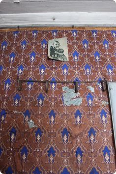 Old wallpaper, Sweden