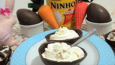 Ingredientes para o recheio: 500g de chocolate branco derretido 100g de creme de leite UHT 25g de emulsificante para sorvete 20g de leite em pó Cobertura fra...