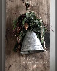 christmas aesthetic Easy to Make Outdoor Christmas Decorations on a Budget Galvanized Christmas Bells Easy Christmas Decorations, Christmas On A Budget, Christmas Bells, Holiday Wreaths, Rustic Christmas, Christmas Home, Holiday Crafts, Vintage Christmas, Christmas Holidays
