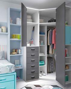 Dormitorios juveniles con cama nido compacta