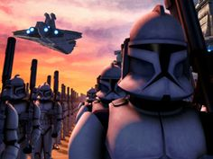 Clone Trooper  and queue the dramatic music as they march off to war