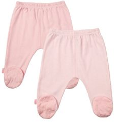 Kushies Packaged Layette 2 Pack Footed Pant