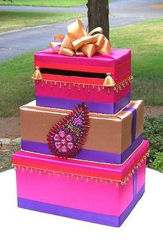 Indian Hindu WEDDING Card Money Box  Beads  by WeddingsofDesign, $150.00