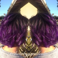 Gorgeous amethyst ombre! Hair by Jami Leslie. Tiger Tail Salon- Carlsbad CA