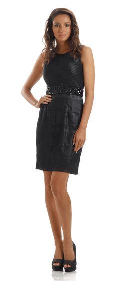 Black Short Cocktail Sleeveless Dress - Discountdressup Store