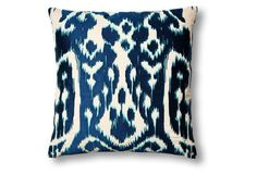 Ojai 20x20 Embroidered Pillow, Blue