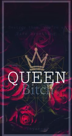 Made by me. #queen #wallpaper #iphone #bitch #cocky #offensive #flowers Bitch Wallpaper, Sassy Wallpaper, Bad Girl Wallpaper, Queens Wallpaper, Phone Wallpaper Quotes, Mood Wallpaper, Locked Wallpaper, Cute Wallpaper Backgrounds, Cellphone Wallpaper