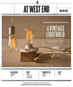 Vintage Light Club for YOU by At West End... #emailmarketing