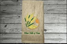 Personalize this hand towel for a gift as a housewarming, birthday, or for your home decor. Borgmanns Creations Hand Towels Bathroom, Kitchen Towels, Red Towels, Rustic Home Interiors, Country Living, House Warming, Farmhouse Decor, Decor Ideas, Embroidery