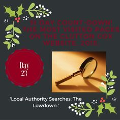 Day 23 of our 31 Day countdown: Local Authority Searches. #movinghome #conveyancing