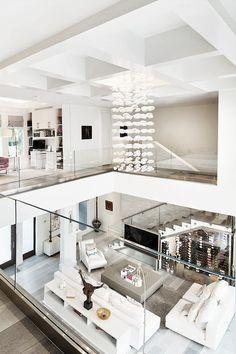 Une Maison Moderne Qui Invite Le Jardin à Lintérieur Mezzanine - Plan interieur maison moderne