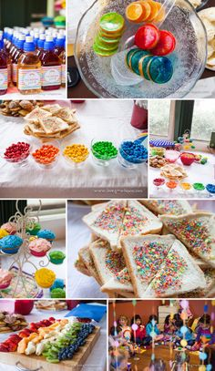 More Rainbow Party Food Rainbow Fruit Trays, Rainbow Food, Wiggles Birthday, Wiggles Party, Rainbow Unicorn Party, Rainbow Birthday, My Little Pony Birthday Party, Unicorn Birthday Parties, Recipes Using Fruit