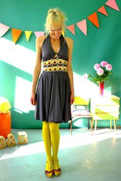 Neckholderkleider - NECKHOLDER KLEID 'KEIN GRAUER ALLTAG' - ein Designerstück von Bonnie-and-Buttermilk bei DaWanda