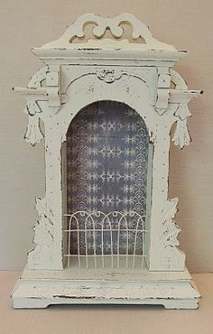Clock case shadowboxes have endless possibilities (they are a bit hard to find for a good price)....