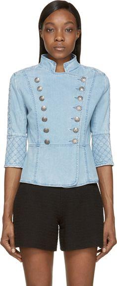Pierre Balmain Light Blue Denim Jacket