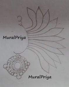 My Kerala Mural Painting Experiments: Chevipoovu (ear ornament) - mural painting for be...
