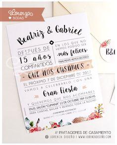 Invitaciones de Casamiento! Diseños personalizados. Envíos a todo el país. Nuñez - Saavedra - Argentina