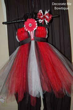 OU Tutu Dress Set by Decoratemebowtique on Etsy, $35.00-make this  badgers n we are good