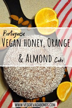 After our trip to Portugal we picked up so many beautiful vegan recipes but our favourite is definitely this vegan honey, orange and almond cake. Absolutely delicious, authentic and a joy to make! Vegan Dessert Recipes, Cake Recipes, Orange And Almond Cake, Vegan Orange Cake Recipe, Orange Recipes, Vanilla Recipes, Honey Almonds, Almond Cakes, Chocolate Cheesecake