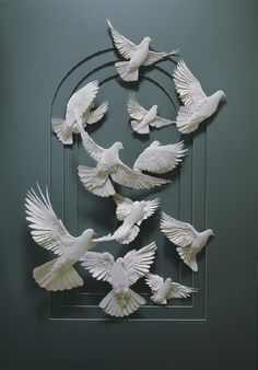 Cut paper sculpture by Calvin Nicholls #art #sculpture