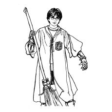 Coloring Pages Harry Potter Quidditch Cartoons gt Harry