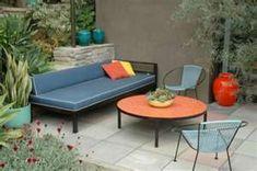 mid century outdoor patio