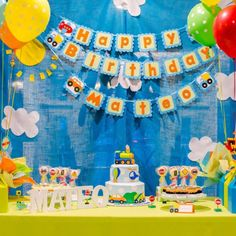 Transportation Birthday Banner. transportation Birthday Party Decorations!