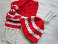Christmas baby hat, scarf
