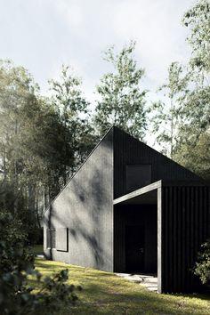 Zdjęcie numer 5 w galerii - Mocny kontrast. Czarny dom między brzozami