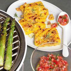 Polentaschnitten mit Käse vom Grill - Rezept | Küchengötter