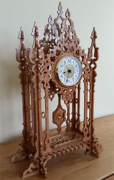Arcade clock, scroll saw fretwork pattern