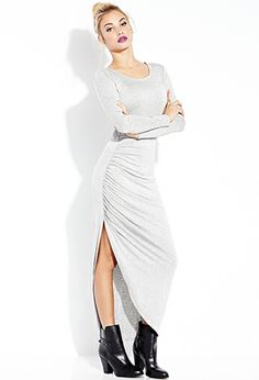 Simply Stated Ruched Maxi Dress | FOREVER21 - 2000091747