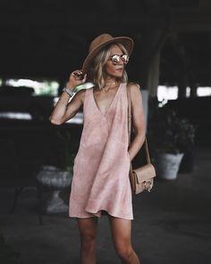 sweet blush suede dress