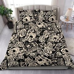 Are you looking for unique bedding sets for adults? We got you covered. All of our bedding sets have unique designs such as gothic bedding sets, skull bedding sets and more. Our bedding sets are super-soft, comfortable, and perfect for any season. Each bedding set comes with a duvet cover and 2 pillow covers. Blue Bedding Sets, Queen Bedding Sets, Gothic Bed, Pillow Inserts, Bed Sheets, Comforters, Pillow Covers, Blanket, Pillows
