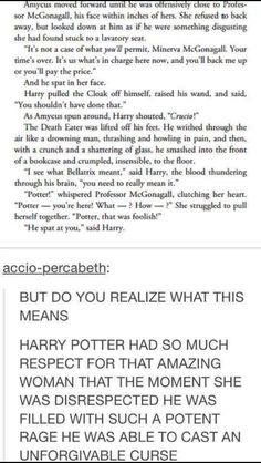 This part makes me teary eyed. No one is allowed to insult Minerva McGonnagall.