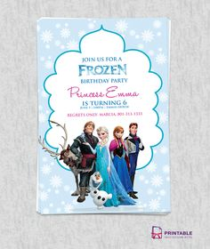FROZEN Birthday Invitation Template - 41 Printable Birthday Party Cards & Invitations for Kids to Make - Big DIY IDeas