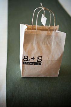 Matrimonio wedding bag con timbro personalizzato