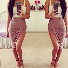 Gojane women's drape up asymmetrical skirt #Skirt #buyable