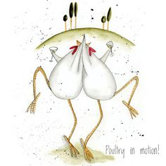 """Poultry in Motion"" by Sarah Boddy (DoodleDoo Personalised Charity Cards)"