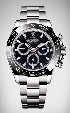 Rolex: Oyster Perpetual Cosmograph Daytona in Schwarz – Watches - Armbanduhr Rolex Oyster Perpetual, Oyster Perpetual Cosmograph Daytona, Rolex Cosmograph Daytona, Rolex Watches For Sale, Luxury Watches For Men, Cool Watches, Mens Watches Rolex, Versace Watches, Men's Rolex