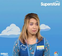crying emotional superstore nichole bloom trying not to cry #humor #hilarious #funny #lol #rofl #lmao #memes #cute