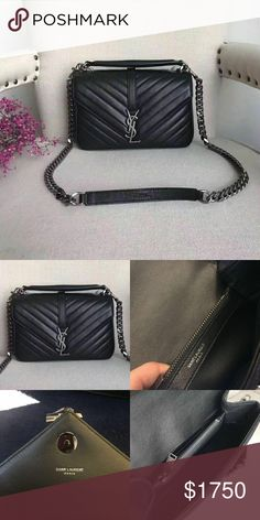 YSL college bag (medium) 100% real and new Including dust bag. Free world  wild shipping Get  50 off order today!! OBO~~ Bags Shoulder Bags 8ae77ca0aa16c
