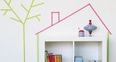 We hit the mother load of all washi tape ideas for kids rooms. It's the perfect cheap and easy decor solution to add pops of color to a room. Thank you Apartment Therapy!